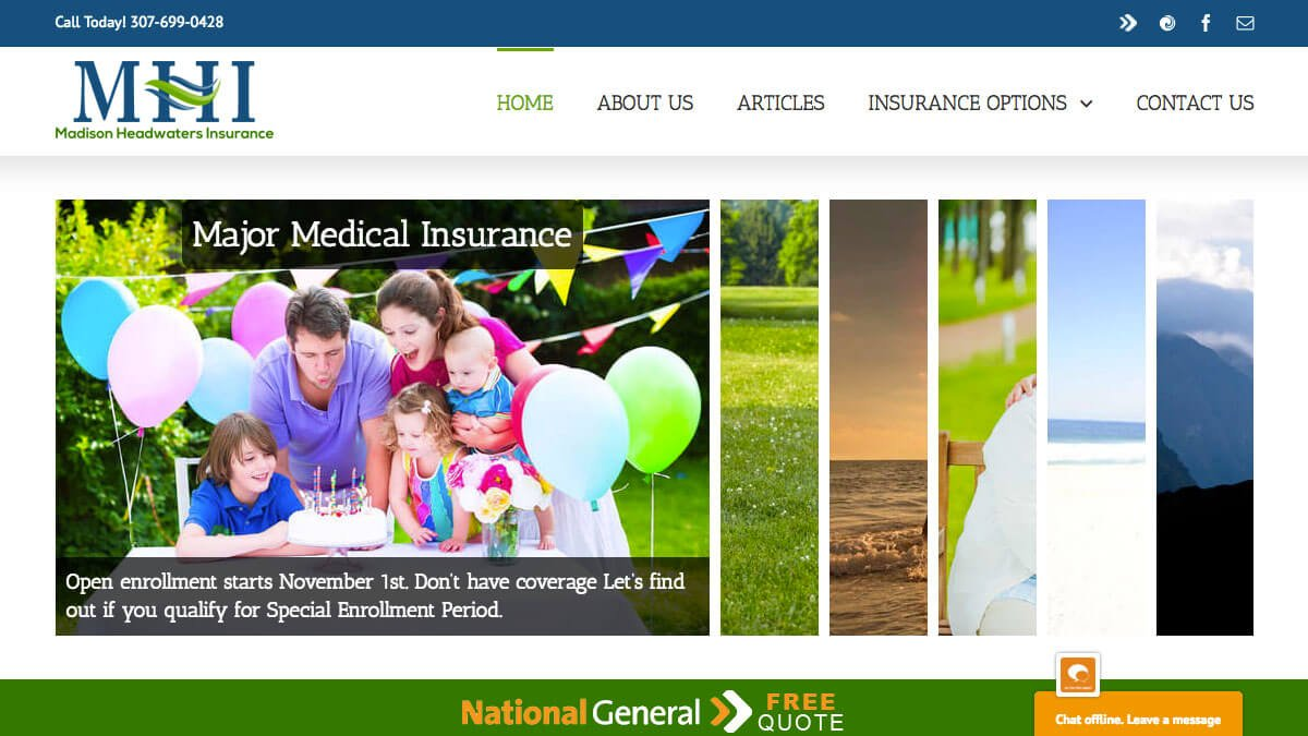 Madison Headwaters Insurance | Insurance Website Design